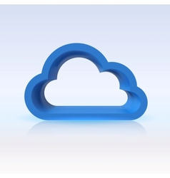 Blue cloud digital concept for your design vector image vector image