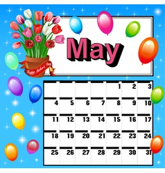 calendar for May Mothers Day f vector image