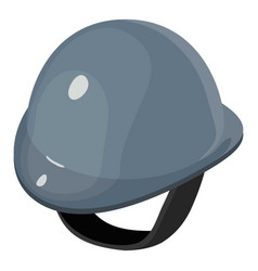 helmet equestrian gray icon isometric 3d style vector image