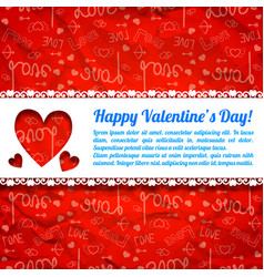 lovely greeting poster vector image vector image