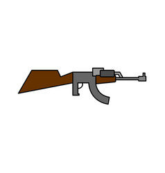 machine gun childs drawing style arms on white vector image