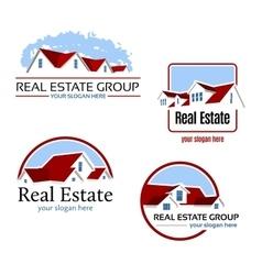 Real Estate Emblems vector image