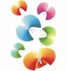 Stylized butterflies vector