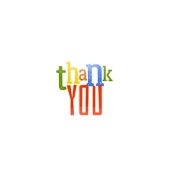 Thank you typography design vector image