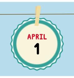 1 April calendar vector image