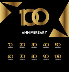 100 year anniversary simple template design vector