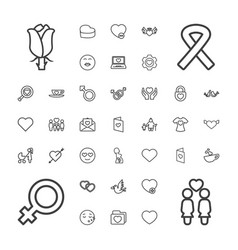 37 love icons vector