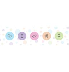 5 boy icons vector