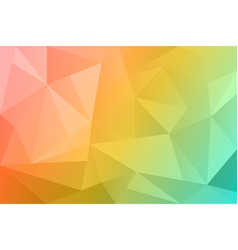 Abstract summer polygonal background spring vector