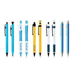 ballpoint pens and mechanical pencils set vector image