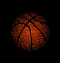 Basketball dots silhouette vector