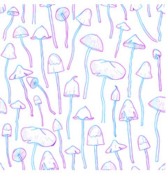 beautiful inedible hallucinogenic fungus seamless vector image