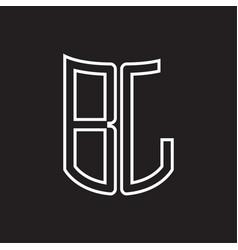 bl logo monogram with ribbon style outline design vector image