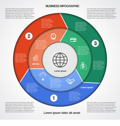 Business circular infographic vector