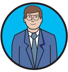 Business man cartoon vector