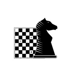business strategy chessboard and figure horse vector image