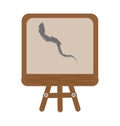 Cartoon chalkboard tripod chalk school vector