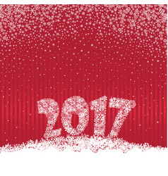 christmas background 2017 holiday snow greeting vector image