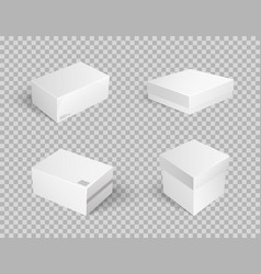 closed parcel icon takeaway package boxes vector image