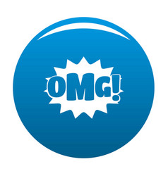comic boom omg icon blue vector image