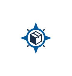 Compass box logo icon design vector