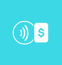 contactless payment icon vector image