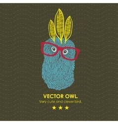 Cute indian owl vector