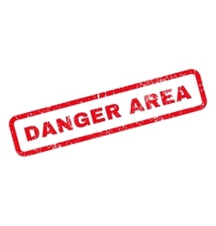 Danger Area Text Rubber Stamp vector image