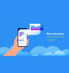data analysis research and reports vector image