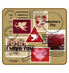 design elements Valentine's Day vector image vector image