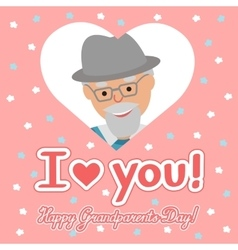 drawing of icon elderly man in the heart vector image vector image