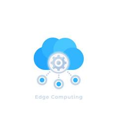 Edge computing icon vector