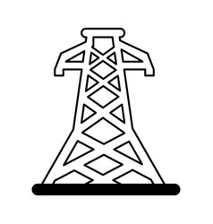 energy tower isolated icon vector image