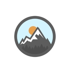 Flat mountain icon vector