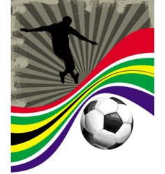 football background with the ball vector image