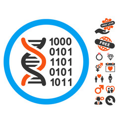 Genetical code icon with lovely bonus vector