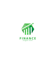 geometric finance arrow logo design vector image