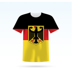 Germany flag t-shirt vector