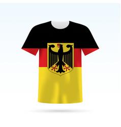 germany flag t-shirt vector image