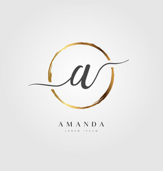 Gold elegant initial letter type a vector