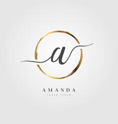 gold elegant initial letter type vector image