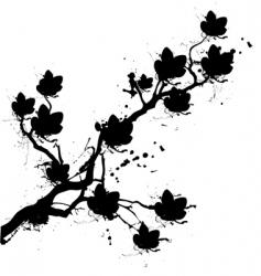 grunge cherry blossom vector image
