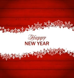 Happy New Year Framework Made of Snowflakes vector image