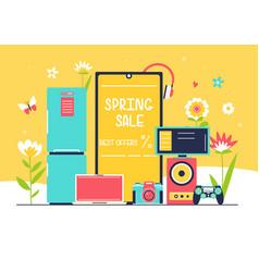 household appliances sale vector image