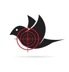 image of bird target vector image