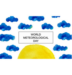 international day of meteorology march 23 vector image