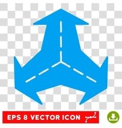 Intersection Directions Round Eps Icon vector