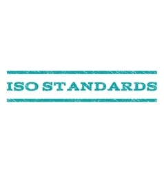 ISO Standards Watermark Stamp vector image
