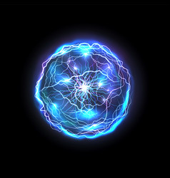 isolated energy ball sphere made lightning vector image