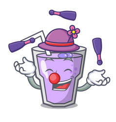Juggling berry smoothie mascot cartoon vector